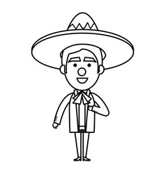 Mexican mariachi avatar character vector