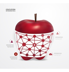 Modern Design apple dot Minimal style infographic vector image