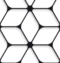 Black hexagon net seamless pattern vector