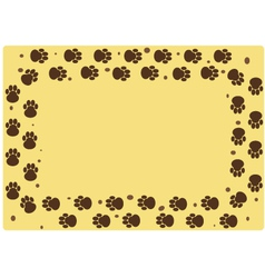 Dog muddy tracks vector