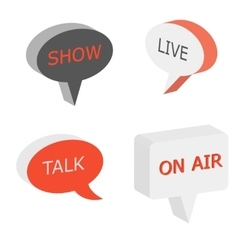 On air sign talk show symbol vector