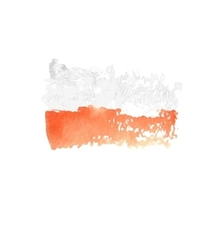 Art watercolor flag watercolor poland art flag vector