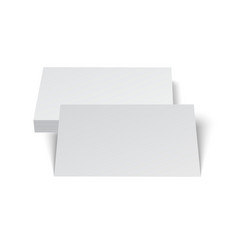 Stack of blank business card on white background vector image