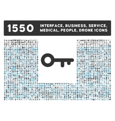 Key icon and more interface business tools vector