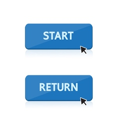 Start and return button design vector