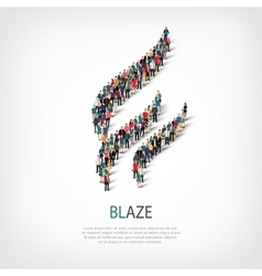 Blaze people sign 3d vector