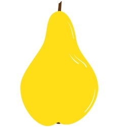 Ripe yellow pear vector