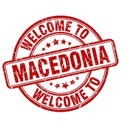Welcome to macedonia vector