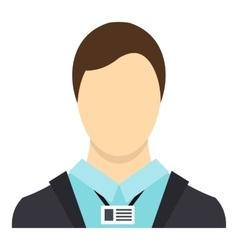 Avatar men icon flat style vector