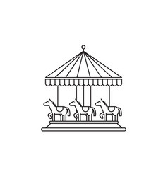carousel icon linear design isolated on vector image