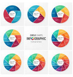 circle chart infographic templates for data vector image vector image