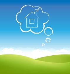 Cloud house vector