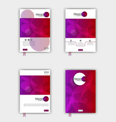 cover design set vector image
