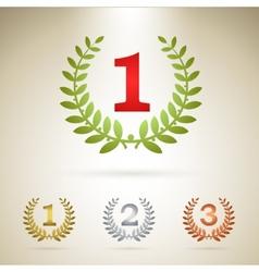 First place emblem vector