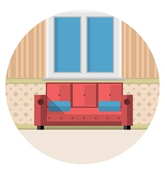 Flat icon for living room vector image
