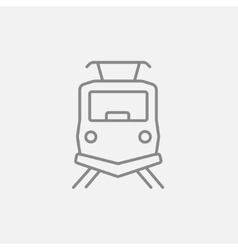 Front view of train line icon vector