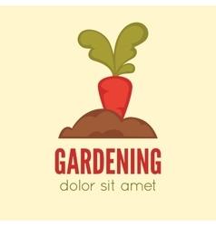Gardening logo concept template vector image vector image