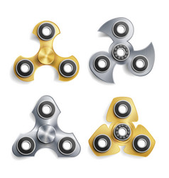 Hand spinner toy set spinning machine rotation vector