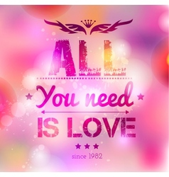 Happy Valentines Day background I Love You vector image vector image
