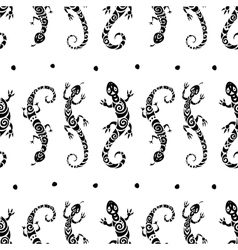 Lizards Seamless pattern vector image