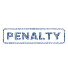 Penalty textile stamp vector