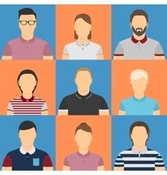 Polo shirt avatars vector