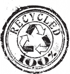 recycled stamp set vector image