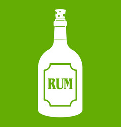 rum icon green vector image