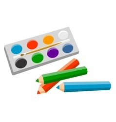 Set Of Products For Artist vector image