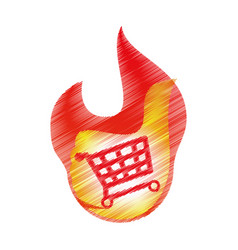 Shopping cart market icon vector