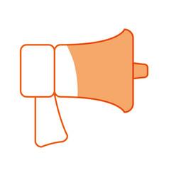Silhouette horn speaker symbol icon vector