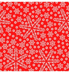 Snow pattern red vector