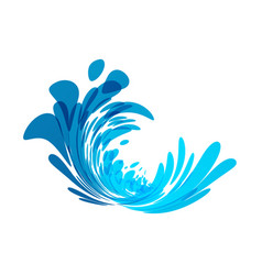 splash blue wave vector image
