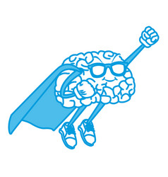 super hero brain cartoon vector image