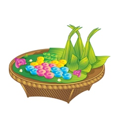 Thai dessert sweet water flower vector