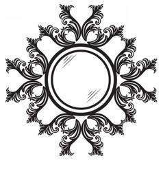 Vintage round ornamented frame vector image