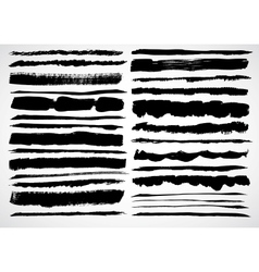 A set of grunge strokes vector image