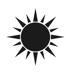 Sun pictogram icon vector