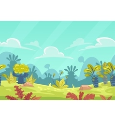 Cartoon seamless fantasy nature landscape vector