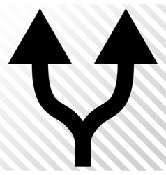 Split arrows up icon vector