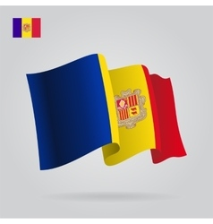 Andorran waving flag vector