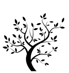black tree vector image