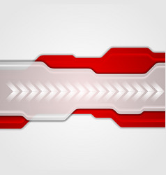 Red and grey abstract technology background vector