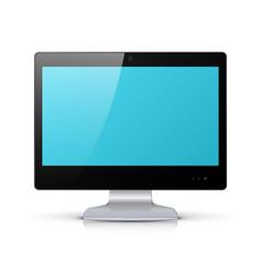 black monitor isolated on white background vector image