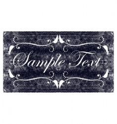 denim banner vector image