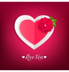 Valentines day typographical background with paper vector