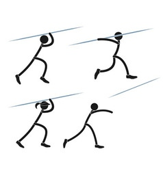 Javelin throwing vector