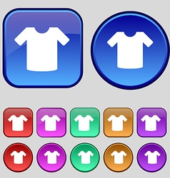 T-shirt clothes icon sign a set of twelve vintage vector