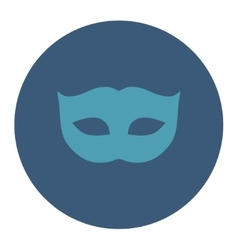Privacy mask flat cyan and blue colors round vector