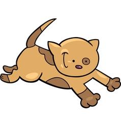 Running kitten vector